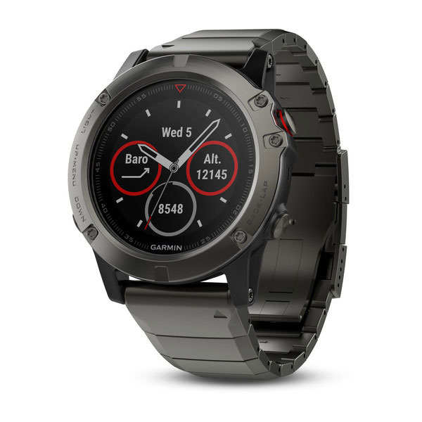 GPS Навигатор Garmin fenix 5X Sapphire - Slate grey with metal band